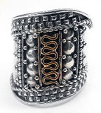 Sterling Silver Medieval Court Armor Band Ring
