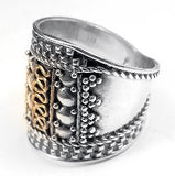 Sterling Silver Medieval Court Armor Band Ring - Silver Insanity
