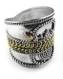 Sterling Silver Winged Goddess Armor Band Ring