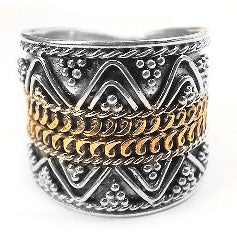 Sterling Silver Love Venus Armour Band Ring - Silver Insanity