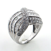 Sterling Silver Absolute Channel Band Ring Size 6 - Silver Insanity