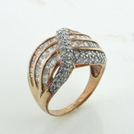 Gold over Sterling Silver Vermeil Absolute Band Ring - Silver Insanity