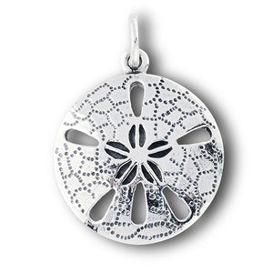 New Sterling Silver Beach Sand Dollar Pendant or Charm - Silver Insanity