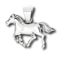 Horses Sterling Silver Running HORSE Pony Charm Pendant - Silver Insanity
