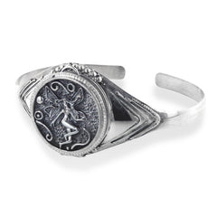 "Fairy Poison Locket or Prayer Box Sterling Silver Cuff Bracelet 7.5"" - Silver Insanity"