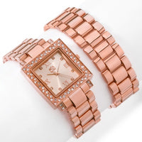 Rosetone Curations with Stefani Greenfield Wrap Watch and Bracelet Set - Silver Insanity