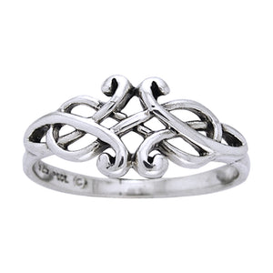 Sterling Silver Unique Celtic Knotwork Ring - Silver Insanity