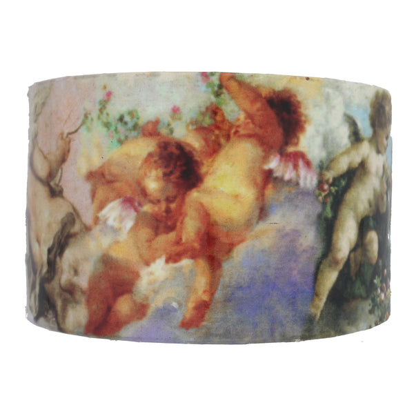 Heavenly Cherub - Angel Cuff Wide Paper and Metal Bracelet - Silver Insanity