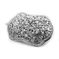 Victorian Small Daisy Sterling Silver Hair Pin Barrette - Silver Insanity