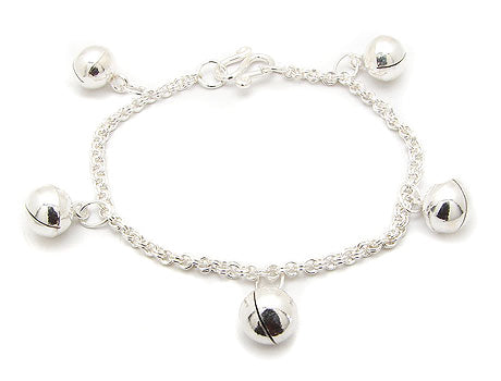 toddler or childs sterling silver jingle bell chain bracelet