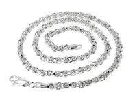 Sterling Silver  Byzantine 3mm Chain Necklace