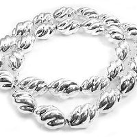 "Hollow Twisted Sterling Silver Oval Link 20"" Necklace - Silver Insanity"