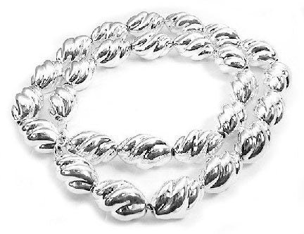 Hollow Twisted Sterling Silver Oval Link 20
