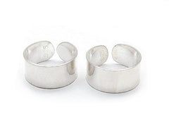 Sterling Silver Plain High Polish Huggie Ear Cuff Pair Earrings - Silver Insanity