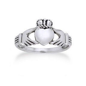 Classic Sterling Silver Celtic Claddagh Wedding Band Ring - Silver Insanity