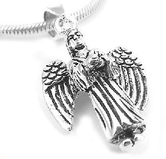 Sterling Silver Moveable Angel Wing Charm Pendant - Silver Insanity