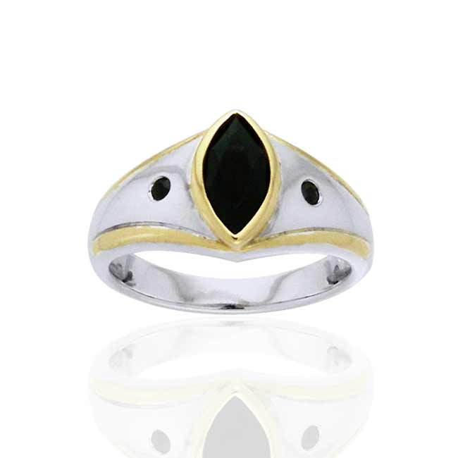 Magic Night Black Spinel Sterling Silver Ring - Silver Insanity