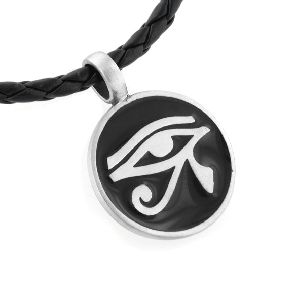 Egyptian Eye of Horus Amulet Silver Pewter Pendant 20