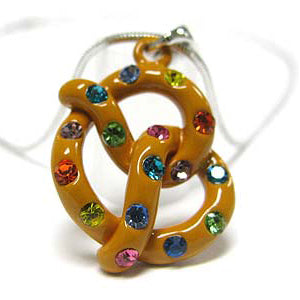 "You Twist Me into a Pretzel Childs Pendant 15"" Snake Necklace - Silver Insanity"