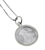 Sterling Silver Walking Liberty Coin Pendant Necklace - Silver Insanity