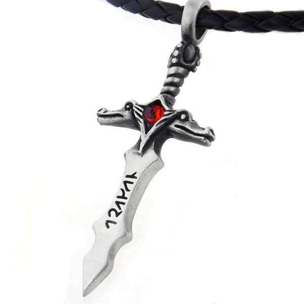 Runic Sword of Jotun Pewter Pendant 20
