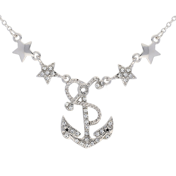 Sailing Under the Stars - Anchor Necklace Adjustable from 16