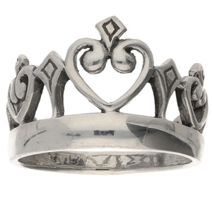 Miss America Princess Crown Sterling Silver Ring - Silver Insanity