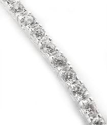 "12cttw CZ Sterling Silver White Cubic Zirconia 7"" Tennis Bracelet - Silver Insanity"