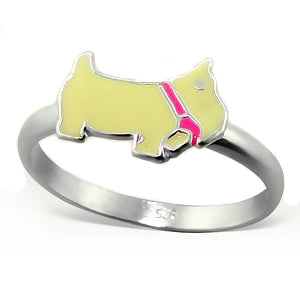 Scottie Dog - Scottish Terrier Toddler Child Kids Sterling Silver Ring