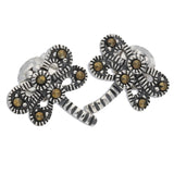 Small Marcasite Dragonfly Sterling Silver Post Stud Earrings - Silver Insanity