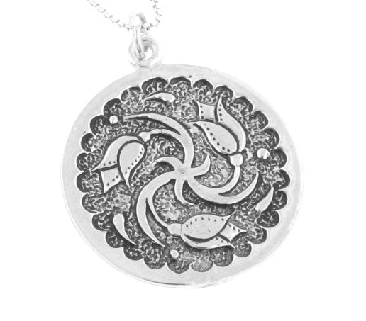 Sterling Silver Late January Celtic Birth Charm Pendant - Silver Insanity