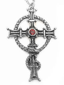 Silver CELTIC Saint St COLUMBA's Cross Pendant Necklace