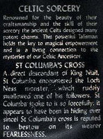 Silver CELTIC Saint St COLUMBA's Cross Pendant Necklace - Silver Insanity