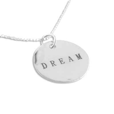 DREAM Inspirational Sterling Silver Charm 18