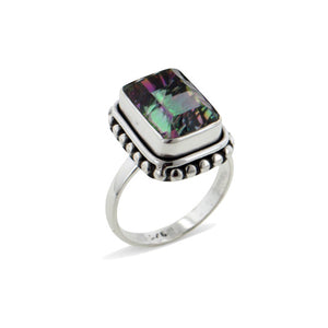 Glow of Dawn Mystic Quartz Sterling Silver Ring - Silver Insanity