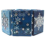 Winter Time Gifts with Snowflakes Wooden Stretch Bracelet - Silver Insanity