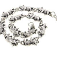 "Detailed Little Pigs Sterling Silver Pig Link 7"" Bracelet - Silver Insanity"