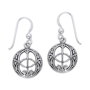 Chalice Well Symbol of Avalon Sterling Silver Earrings - Silver Insanity