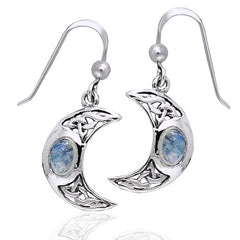 Moon Spirit Celtic Moonstone Sterling Silver Earrings