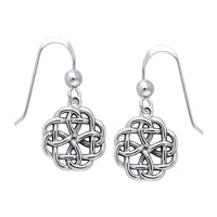 Celtic Knot Flower Dangle Sterling Silver Hook Earrings, Small and Sturdy - Silver Insanity