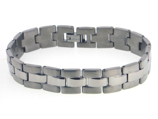 Men's Panther Link High Grade Titanium Metal Jewelry Bracelet, 8