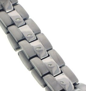 "Men's Panther Link High Grade Titanium Metal Jewelry Bracelet, 8"" Long - Silver Insanity"