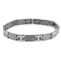 "Narrow Men's Scorpion Titanium Metal Jewelry Bracelet, 8"" Long - Silver Insanity"