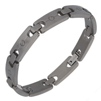 "Flat Head Screw Link Titanium Metal Link Bracelet Jewelry, 7.5"" Long - Silver Insanity"