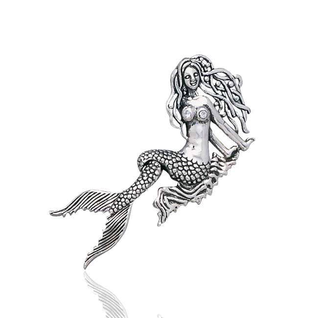 Moveable Tail Mermaid Sterling Silver Sea Nymph Mermaid Pendant