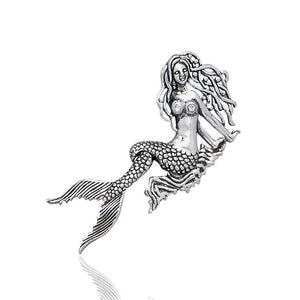 Moveable Tail Mermaid Sterling Silver Sea Nymph Mermaid Pendant - Silver Insanity