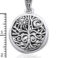 "Celtic Tree of Life Art Sterling Silver Pendant & Chain 18"" Necklace - Silver Insanity"
