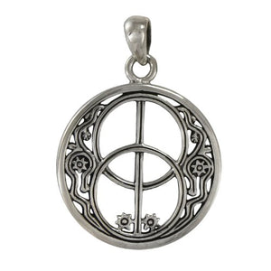 Sacred Chalice Well Symbol of Avalon in Glastonbury Sterling Silver Pendant - Silver Insanity
