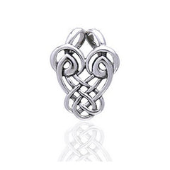 Dancing Birds Slider Sterling Silver Celtic Knot Pendant - Silver Insanity