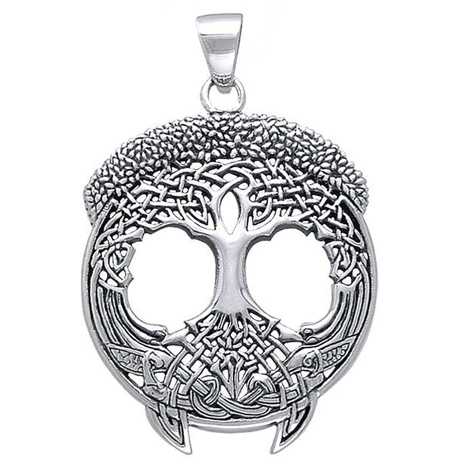 Solstice Tree of Life Celtic Knot Branches and Roots Sterling Silver Pendant - Silver Insanity